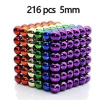 LureTech Magnetic Balls Color Intelligent Stress Reliever Toys, Pack of 216 Pcs, 5mm (Multi-Color)