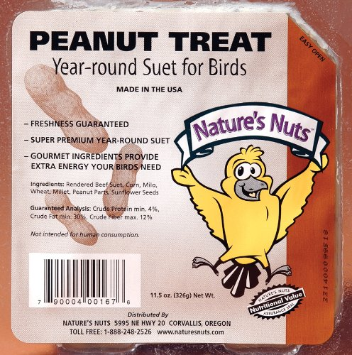 Natures Nuts 00167 11.5 Oz Peanut Treat Suet ()