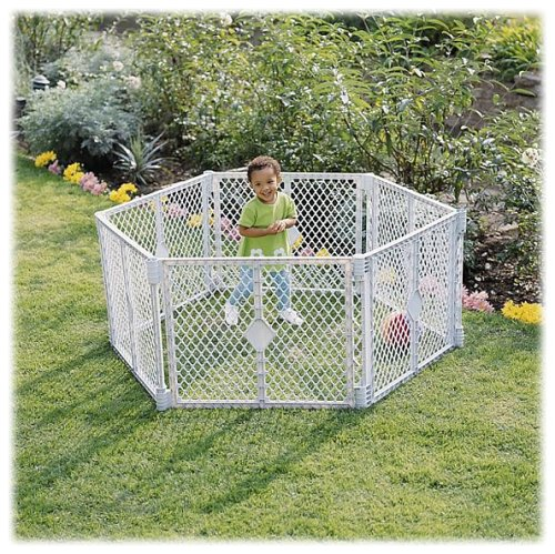 North State IND 8666 Grey 6 Panel Play Gate by North States Industries (Image #1)