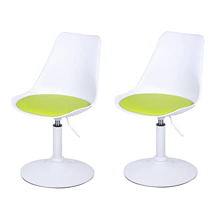 amazon com joveco tulip adjustable 360 degree swivel chair set of