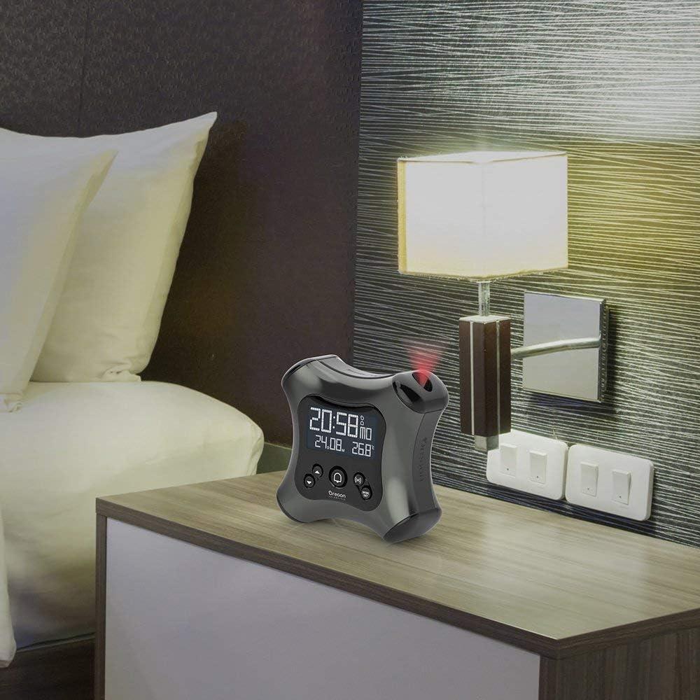 Alarme progressive Oregon Scientific RM330 R/éveil avec Projection de lheure et Thermom/ètre Gris