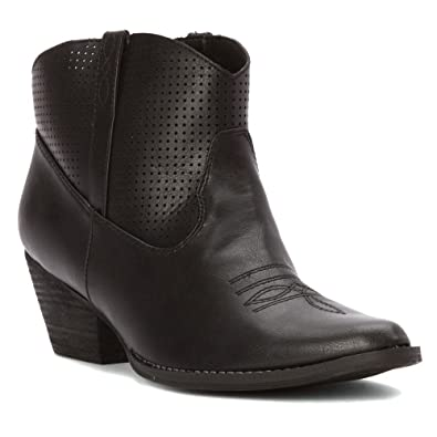 Very Volatile Women's Mishka Western Boot,Black/Silver,6