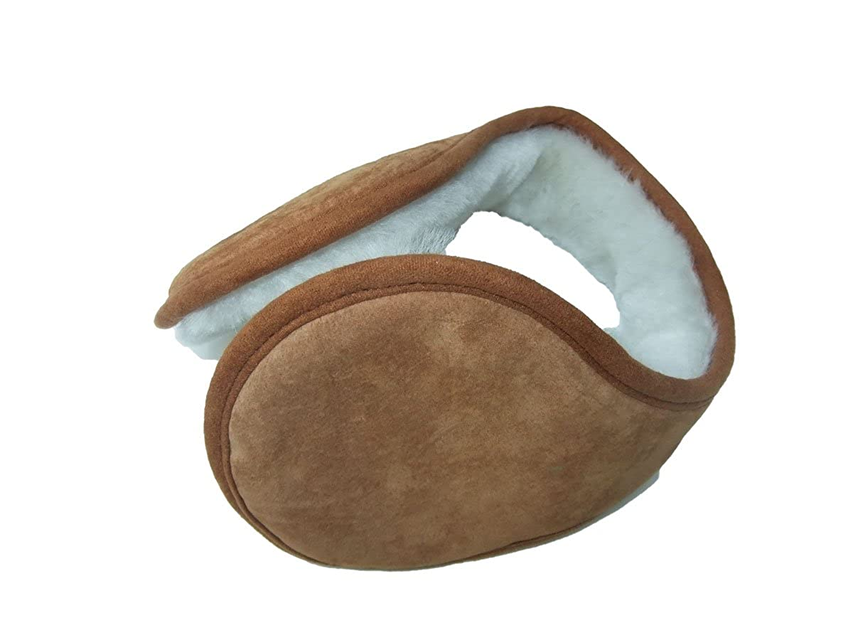 Things2KeepUWarm Sheepskin Ear Muffs Luxurious Soft Clip Around Without Head Band