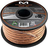 Mediabridge 14AWG 2-Conductor Speaker Wire (50 Feet, Clear) - Spooled Design with Sequential Foot Markings (SW-14X2-50-CL)