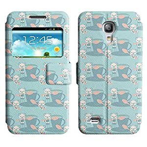 Be-Star Colorful Printed Design Slim PU Leather View Window Stand Flip Cover Case For Samsung Galaxy S4 mini / i9190 / i9192 ( Bears And Teacups ) Kimberly Kurzendoerfer