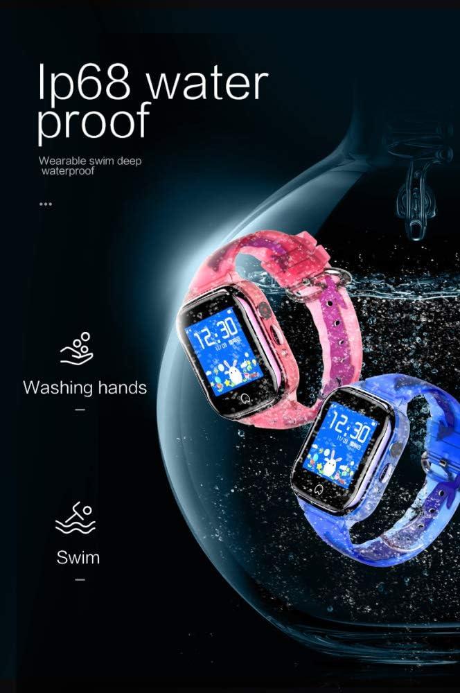 liangh Montre Enfants,Montre Intelligente De Jeu Mobile,4G Téléphone SOS,WiFi/GPS/LBS,Célébration d'anniversaire,Pink Blue
