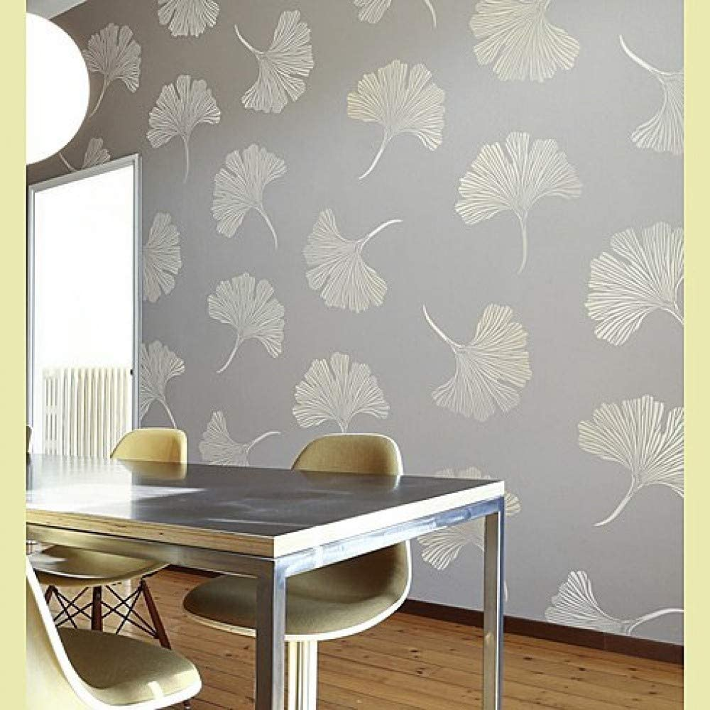 Amazon Com Chinese Ginkgo Wall Stencil Floral Stencils For