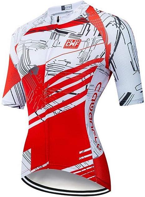 AQWWHY Jersey de Ciclismo para Mujer Manga Corta Camisa de Bicicleta de montaña Jersey de Ciclismo Transpirable 100% poliéster: Amazon.es: Deportes y aire libre
