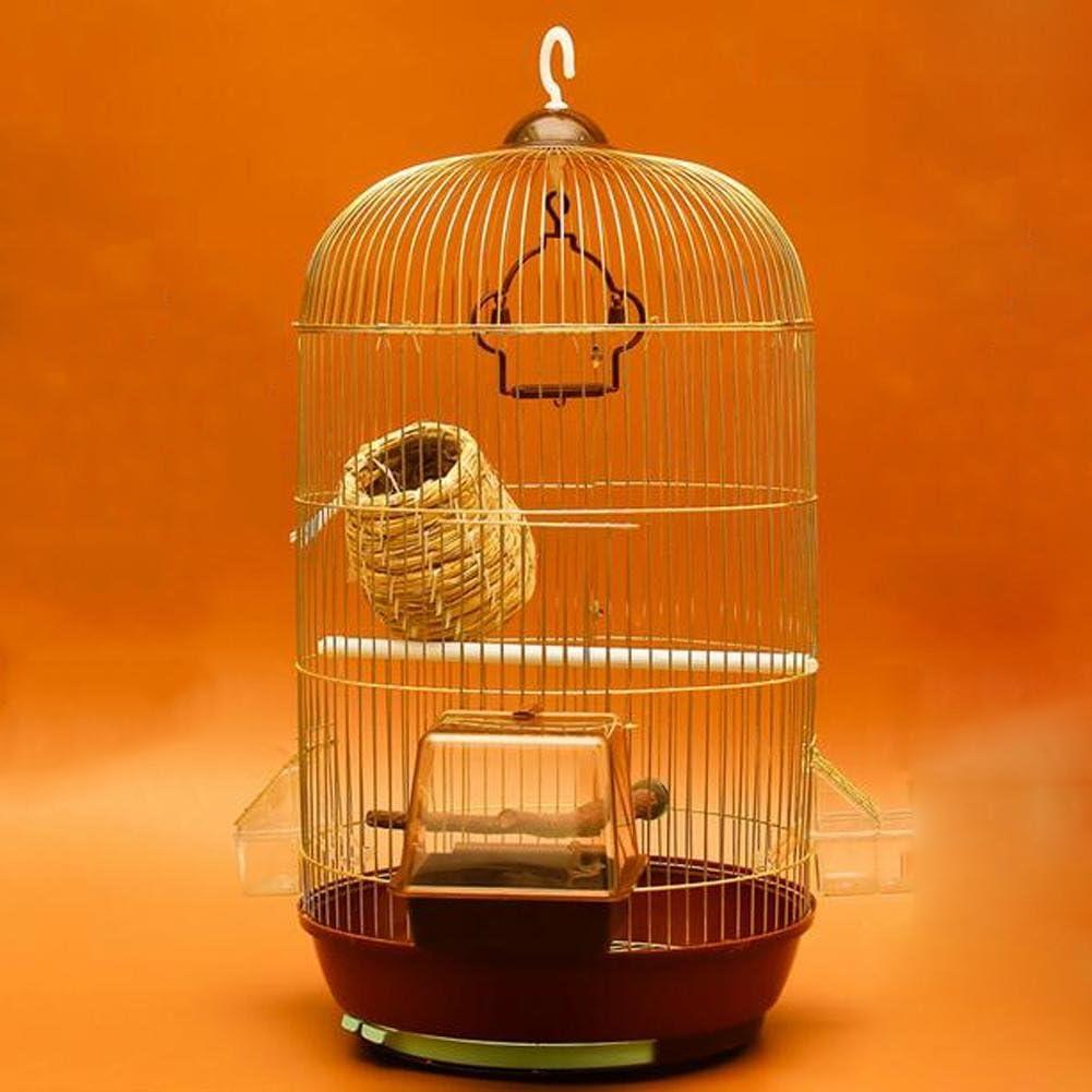 JiaYue Luxury100 de Alta Temperatura de Cromo Metal Jaulas para Pájaros de Oro de Color Pequeño 33.5x71cm, Golden Color, Set 4