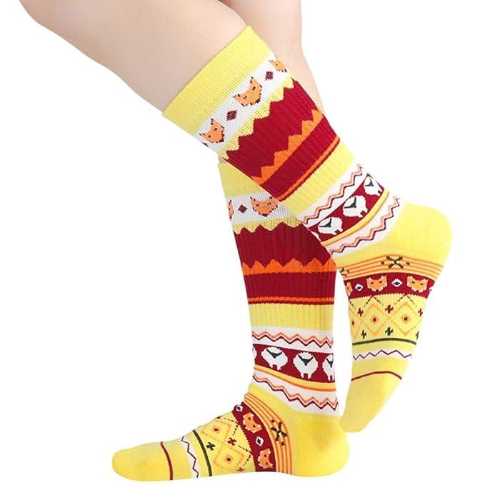 Hyf Socks 2 Pares Unisex Hombres Mujeres Calcetines Amarillos Año Nuevo Calcetines De Navidad Grandes Grandes