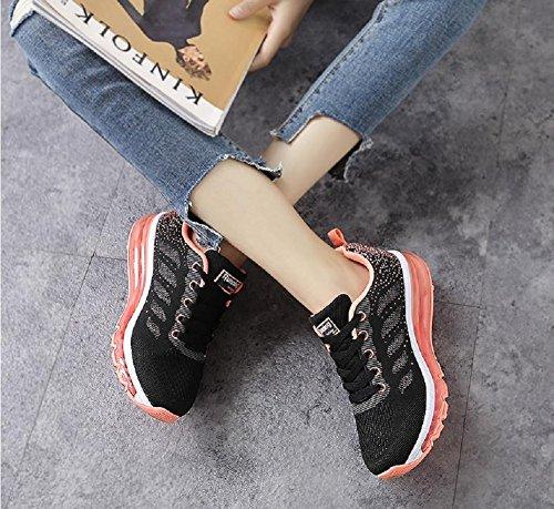 Sneakers Scarpe Running Casual Arancio da Nero Unisex Basse all'Aperto Sportive Corsa Ginnastica Donna Uomo Interior tqgold Fitness qOtZwzvw