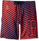 Klew MLB Men's Stripes Poly Board Shorts