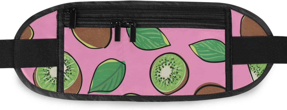 Travel Waist Pack,travel Pocket With Adjustable Belt Bright Fruit Pattern Green Fruit On Running Lumbar Pack For Travel Outdoor Sports Walking