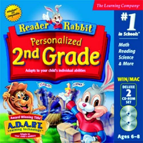 Reader Rabbit Personalized 2nd Grade Deluxe (Compatible with Windows 7 (32-bit Only), Vista/XP) 61S1Yeit2eL