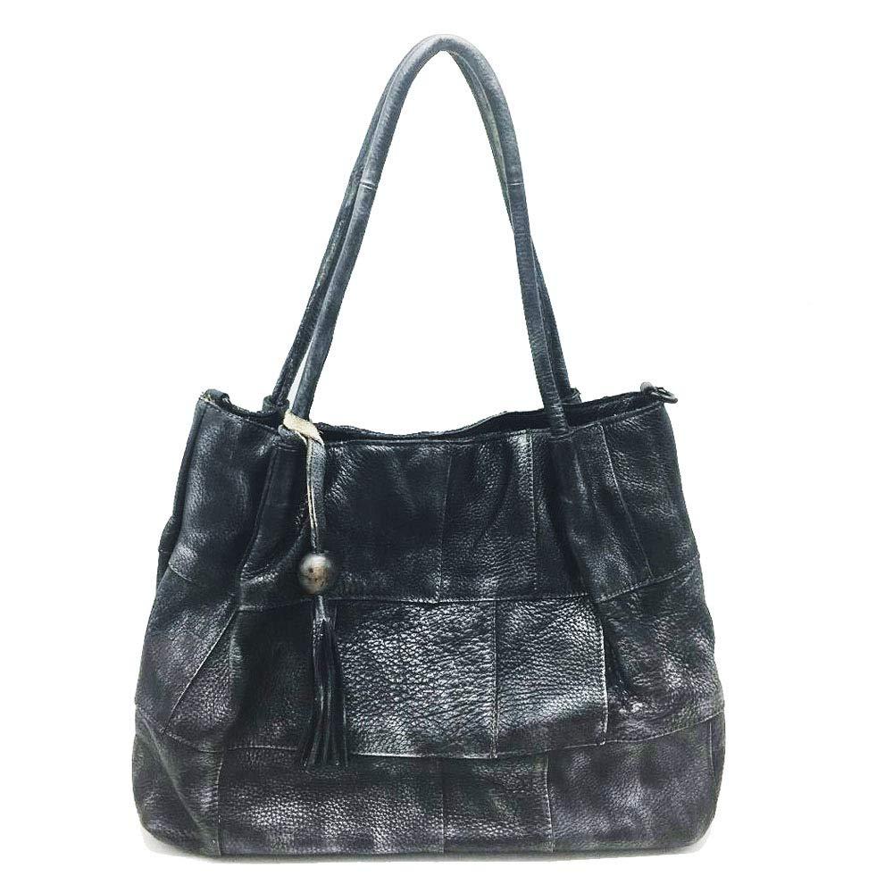 UHUBBG Shoulder Messenger Bag Hand-Wiped WomenS Bag Shoulder Messenger Bag Retro 38X29X13Cm Brown