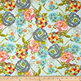 Art Gallery Lilly Belle Garden Rocket Turquoise Fabric By The Yard