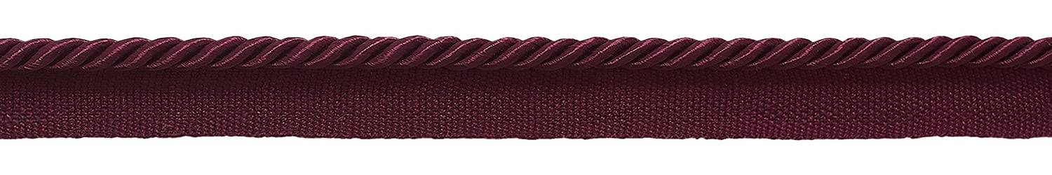 12 Yard Value Pack of 3/16' (.5cm) Burgundy, Basic Trim Lip Cord , Style# 0316S Color: RUBY - E10 (36 Ft / 11M) DecoPro