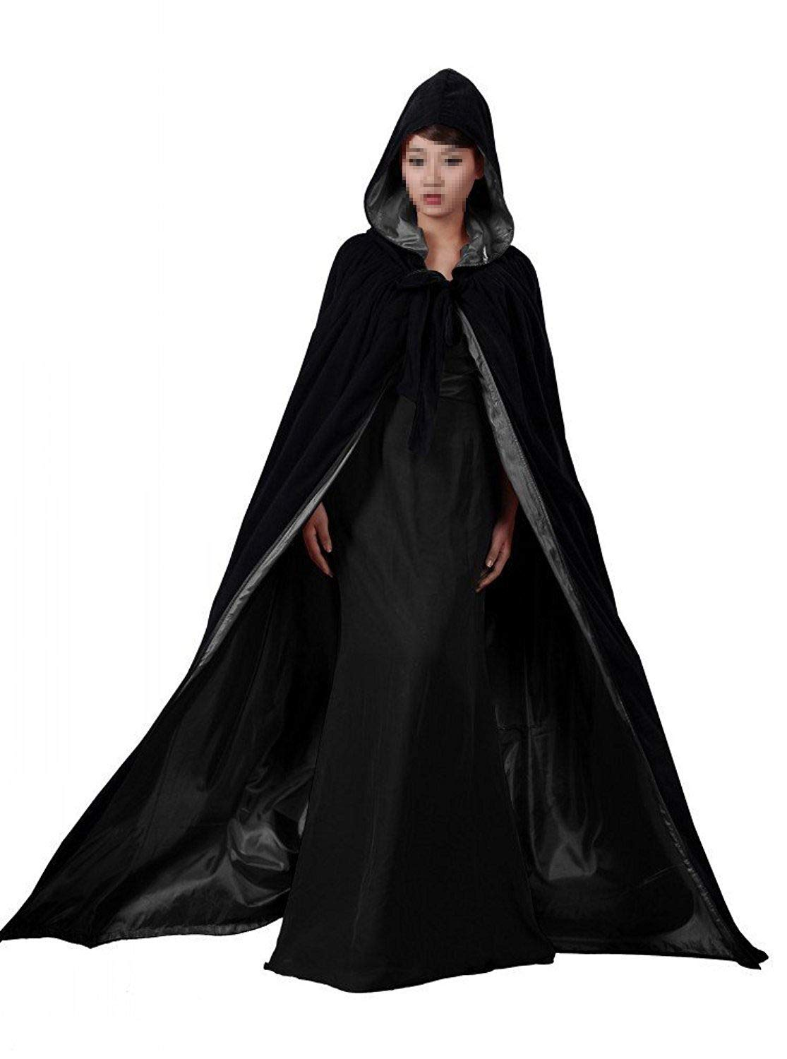Special Bridal Long Capes Unisex Holloween Black Velvet Cape Adult Halloween Christmas Cosplay Costume Cloaks