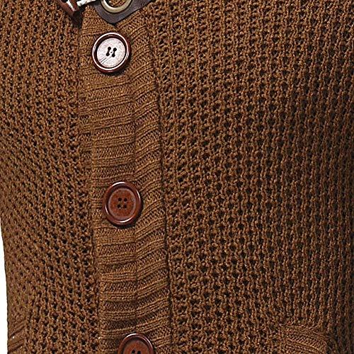 Tamaños Cárdigan De Suéter Cómodos Gruesa Dunkelgrau Punto Botones Hecho Cuello Cardigan Hombres Fashion Con Hx Tapeta Para Y Alto Ropa Zvx5Bqgnwa