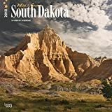 South Dakota, Wild & Scenic 2018 12 x 12 Inch Monthly Square Wall Calendar, USA United States of America Midwest State Nature