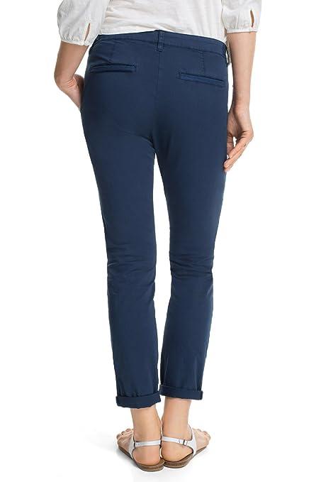 e2b464dbd781 edc by Esprit Basic 035Cc1B038 - Pantalon - Chino - Femme - Bleu (Cw Navy  401) - W36 L30 (Taille fabricant  34 SHO)  Amazon.fr  Vêtements et  accessoires