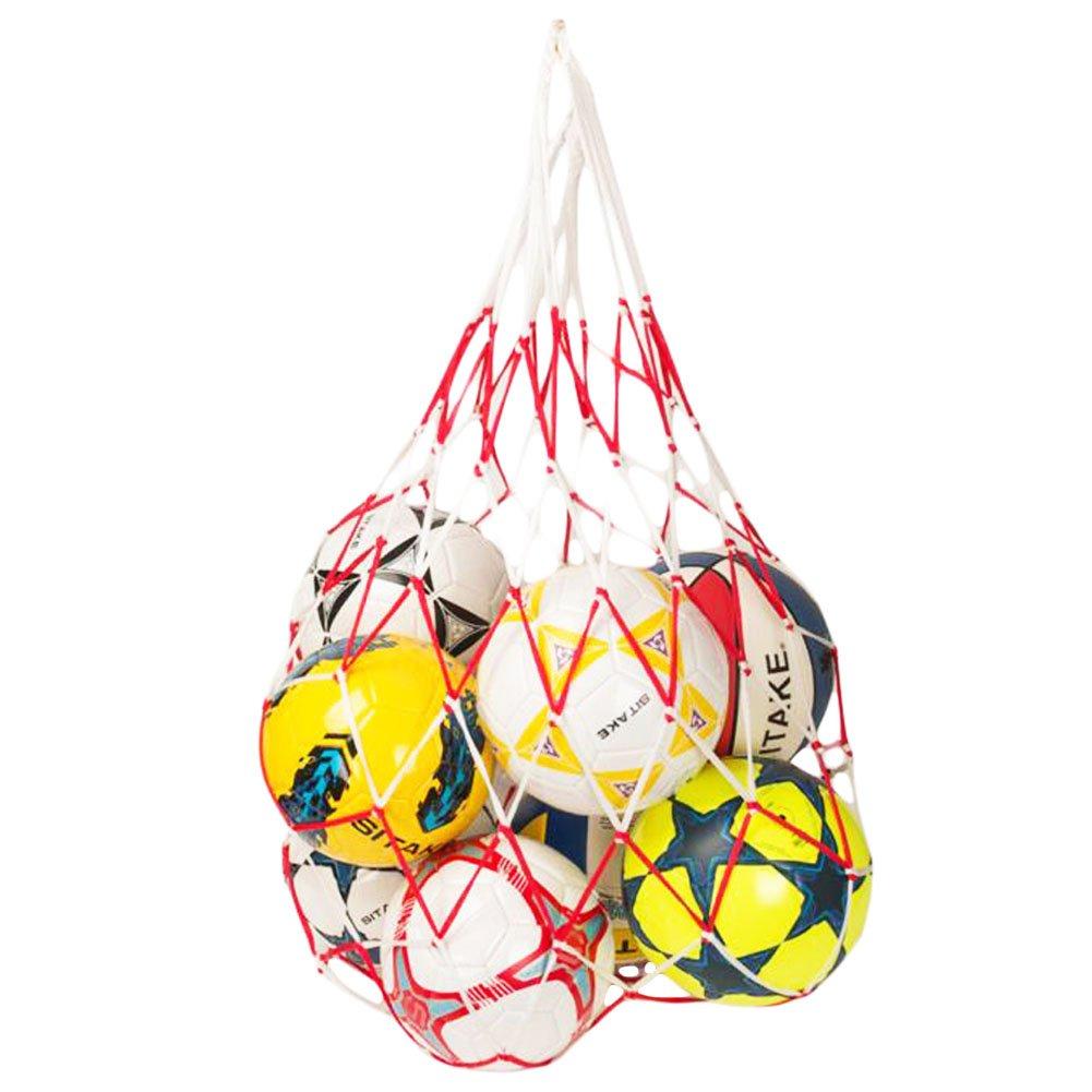 George Jimmy Basketball Football White Red Carry Net Mesh Nylon Bag Train School Supply