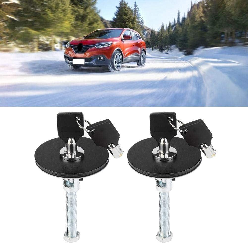 Acouto Car Hood Lock Pin Blue Aluminum Alloy Universal Engine Hood Lock Key Pin Kit