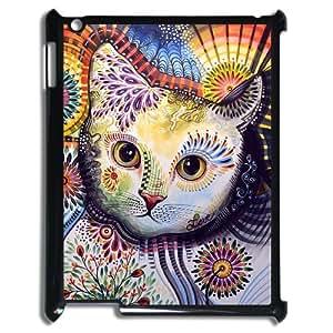 DIYCASESTORE 2014 Brand New IPad 2,3,4 Cover Custom Case Pretty Cat Art design,Handmade customized case