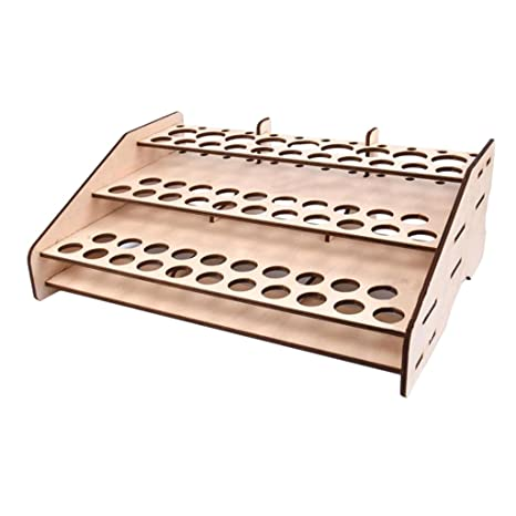 MagiDeal 2pcs Wooden Paints Rack Modular Stand Model Hobby Parts Tools Storage Rack
