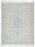 Cheap Stone & Beam New England Transitional Wool Area Rug, 8'x10′, Blue and Cream