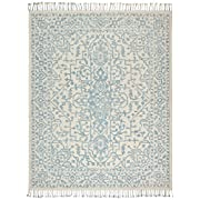 Stone & Beam New England Transitional Wool Area Rug, 4'x6', Blue and Cream