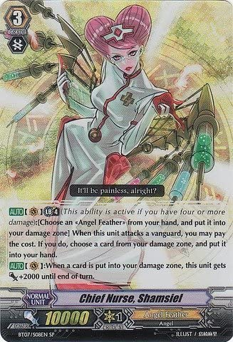 Cardfight!! Vanguard TCG - Chief Nurse, Shamsiel (BT07/S08EN) - Rampage of the Beast King by Cardfight!! Vanguard TCG: Amazon.es: Juguetes y juegos