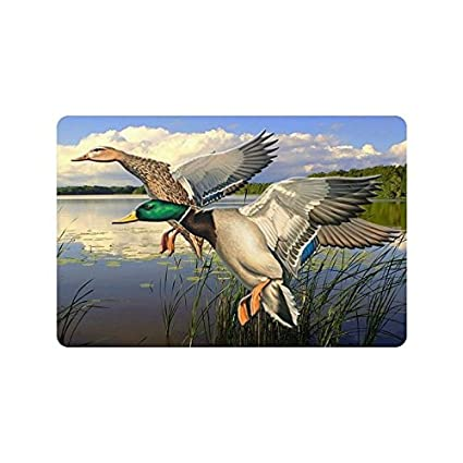 Amazon Com Homie Design Mallard Ducks Flying Over The Lake