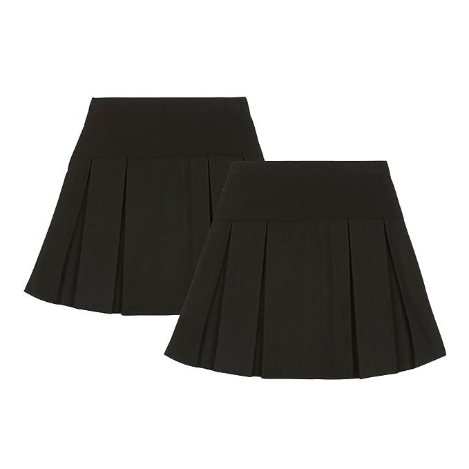 Debenhams Kids 2 Pack Girls Navy Pleated Skirts