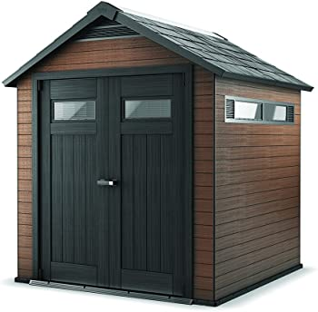 Keter Fusion 7.5 ft. x 7.3 ft. Wood and Plastic Composite Storage Shed