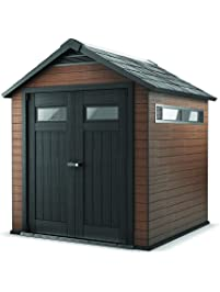 wood and plastic composite outdoor storage shed
