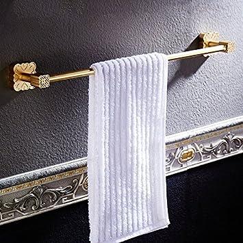 Toalla de baño JiSuQiCheFuWu Bar de Estilo Europeo Golden Space Aluminio Colgador de Toalla toallero toallero baño baño Alargado Toallero de Palanca única: ...