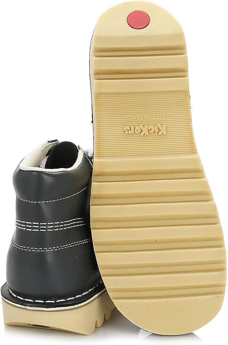 Kickers Mens Kick Hi Core Navy//Natural Leather Boots