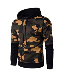 Aelegant Homme Pull Sweat à Capuche Hoodie Shirt Longue Manches