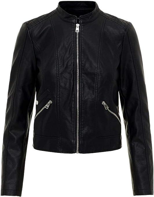 TALLA M. Vero Moda Vmkhloe Favo Faux Leather Jacket Noos Chaqueta para Mujer