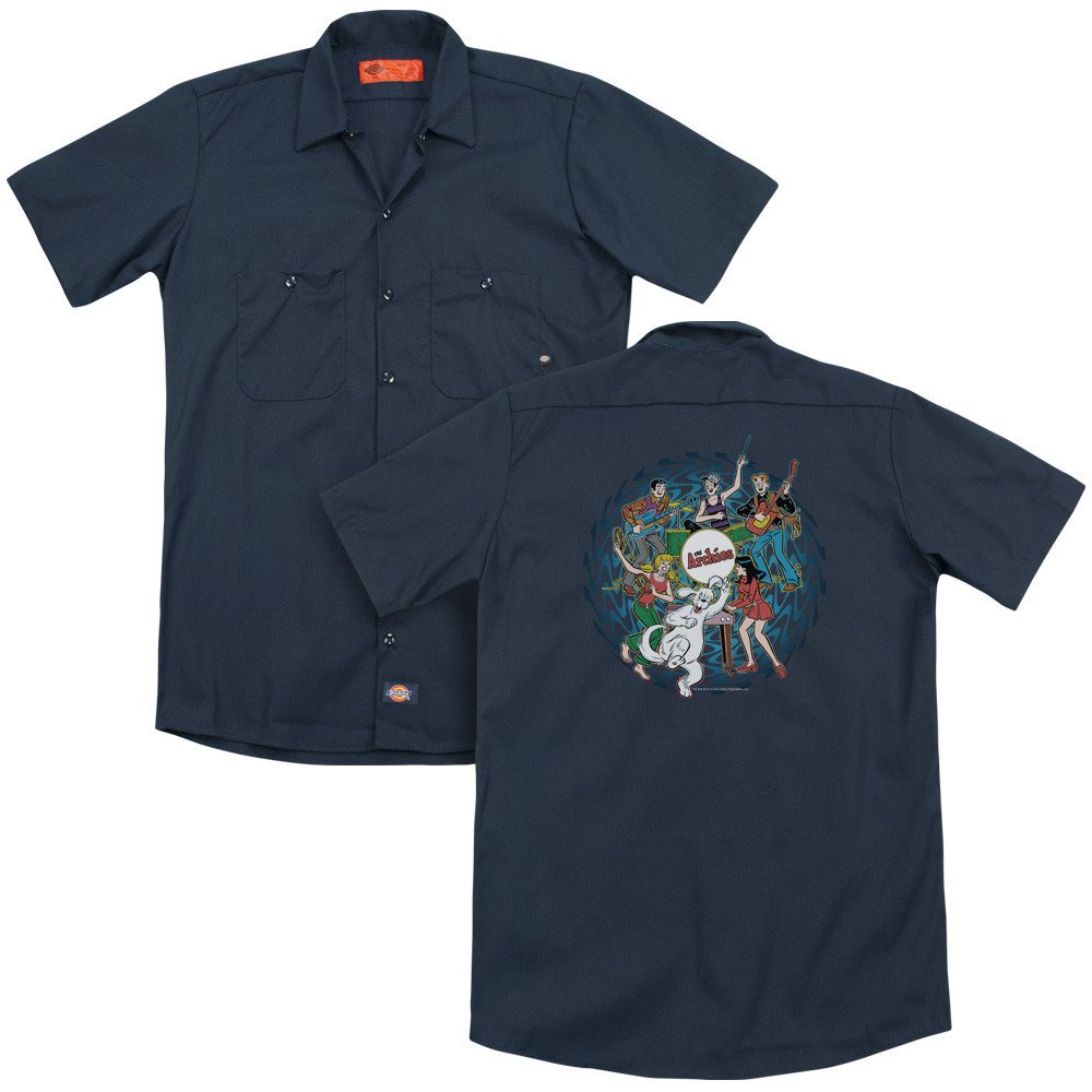 Psychadelic Archies Adult Work Shirt Archie Comics