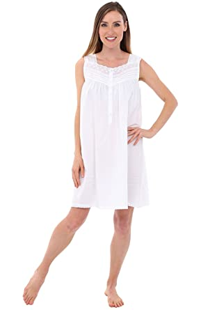 cc17d70279 Alexander Del Rossa Womens Edith Cotton Nightgown