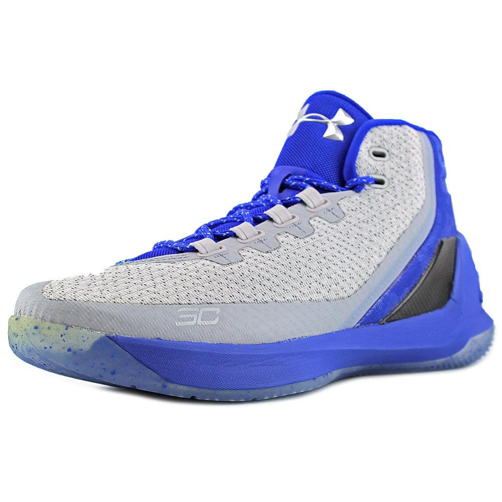 Curry 3 Mens (Aqua Camo) in Grey/Royal by Under Armour, 10