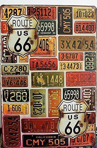 Collezione di targhe di auto americane stile vintage in metallo, da ...