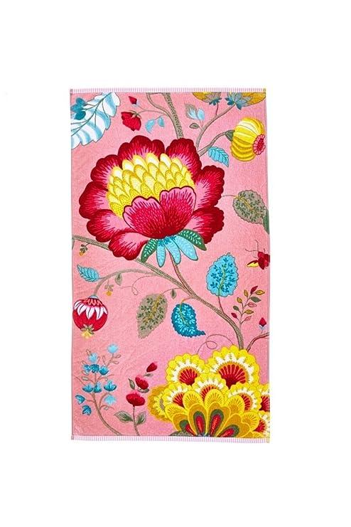 Pip Studio 260256202007 Floral Fantasy-Toalla algodón, 55 x 100 cm, Color Rosa