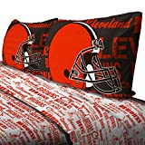 4pc NFL Cleveland Browns Full Bed Sheet Set Football Team Anthem Bedding Accessories