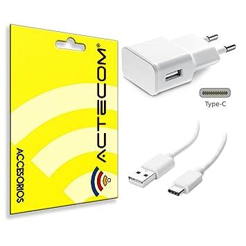 actecom® Cargador Pared 2A+ Cable USB 3.1 Tipo C USB Blanco ...
