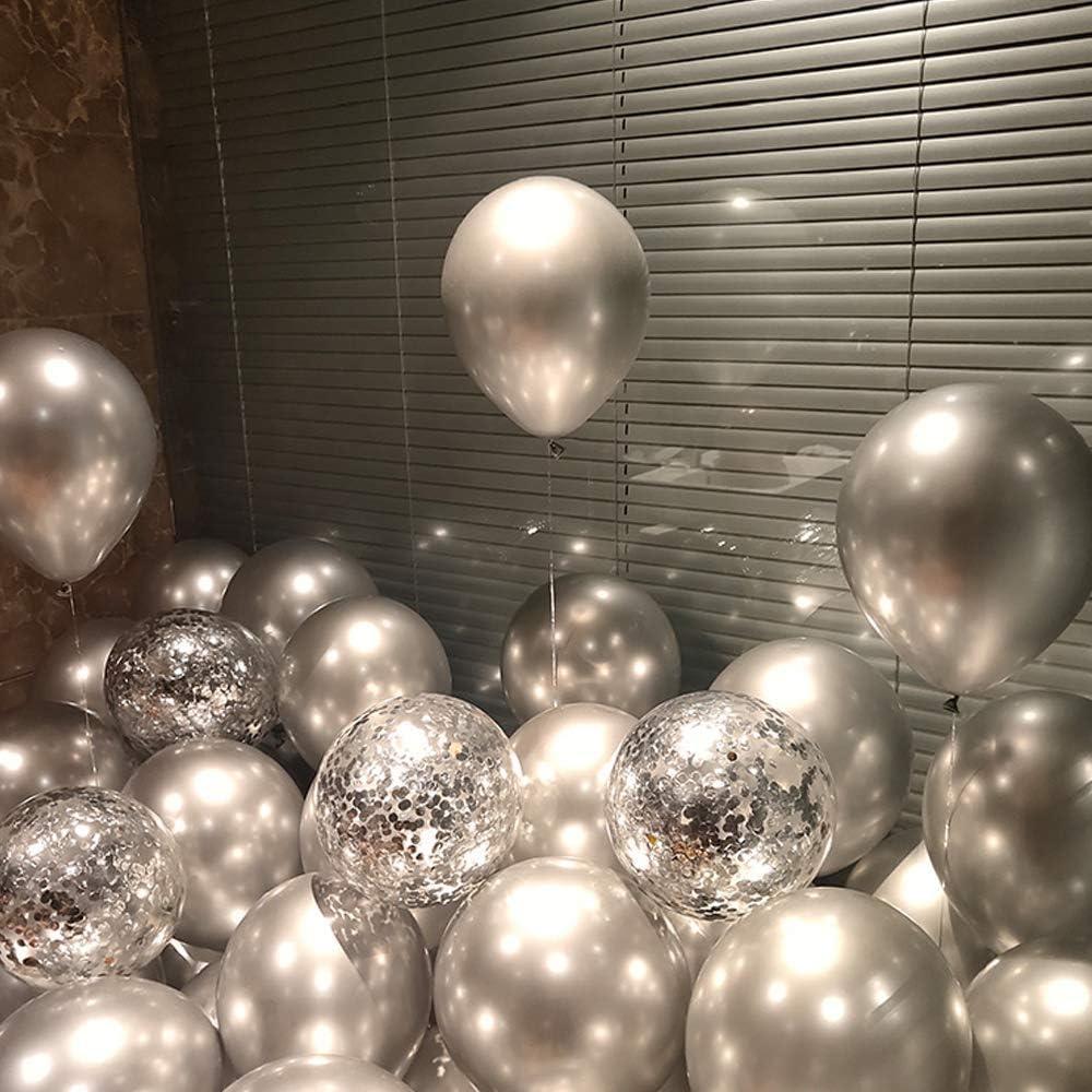 12 Zoll Matellic Luftballons Gold Konfetti Ballons Latex Ballons Helium Bunt Luftballons f/ür Hochzeit M/ädchen Jungen Geburtstag Party Dekoration Gold Yisscen 80 St/ück Luftballons Gold Wei/ß