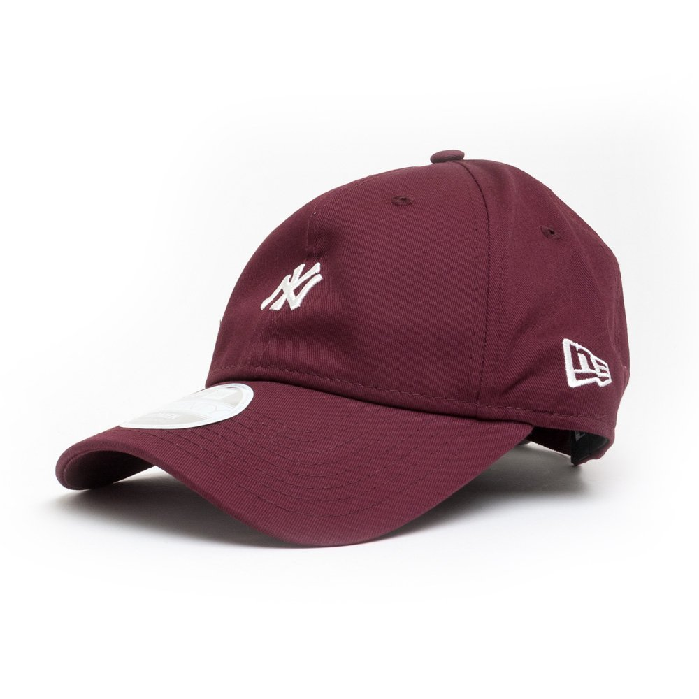 0c85ee66cb0 New Era Womens 9TWENTY New York Yankees Baseball Cap - Mini Logo Essential  - Burgundy Adjustable  Amazon.co.uk  Clothing