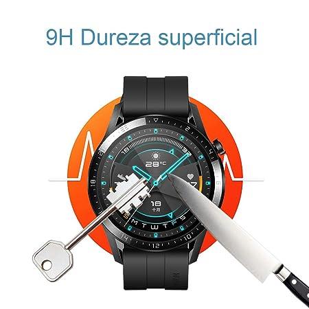 UCMDA Protector de Pantalla para Huawei Watch GT 2 46mm - [3-Pack] HD Full Cristal Vidrio Templado 2.5D Touch,HD-Display, Anti-Burbujas,para Huawei ...